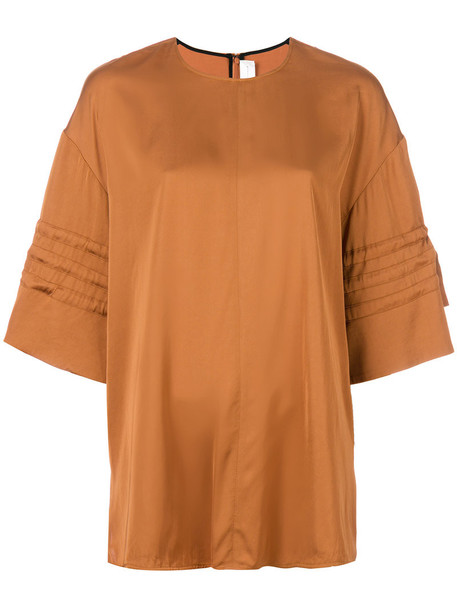 top oversized women cotton brown