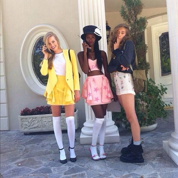 skirt pink high waisted skirt stars ruffle