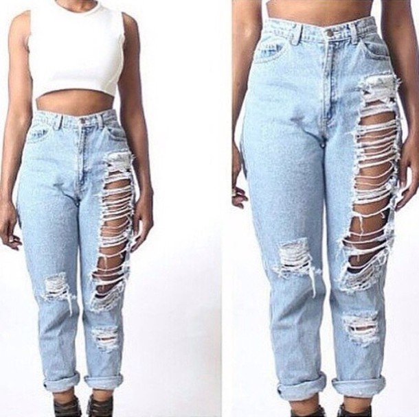 jeans zaful mom jeans light blue jeans pants crop tops white crop tops ripped jeans high waisted jeans boyfriend jeans heels black heels sandal heels black sandals tie up sandals black sandals blue jeans outfit