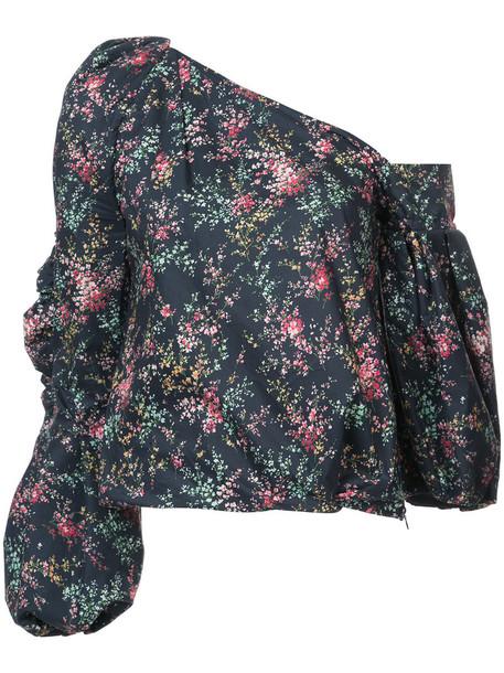Hellessy blouse women cotton blue silk top