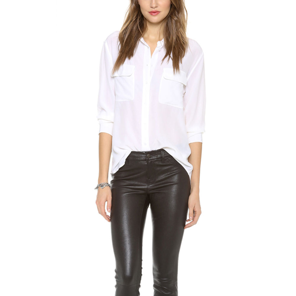 haoduoyi Womens Career Office OL Button Down Casual ...
