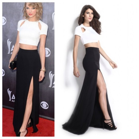 sexy dress style fashion two-piece taylor swift skirt crop tops