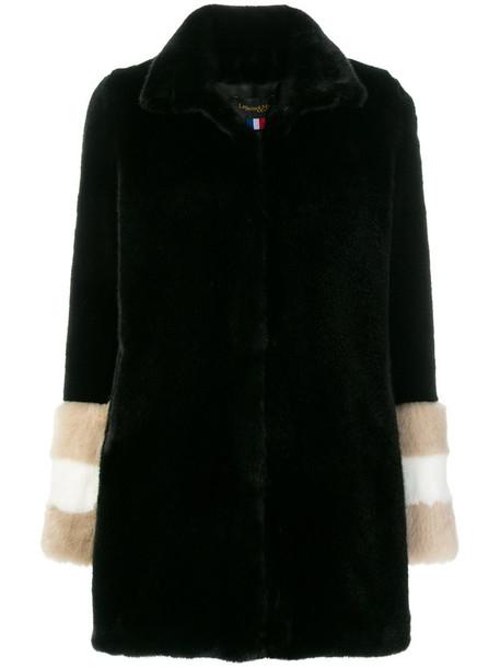 coat fur women black