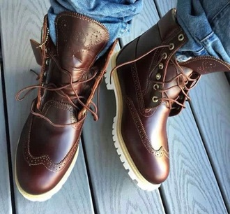 shoes timberlands oxfords boots brown boots