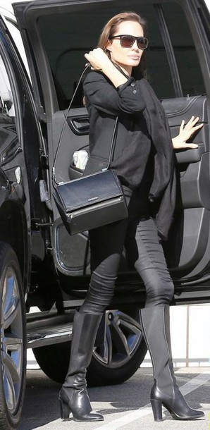 purse angelina jolie shoes pants bag