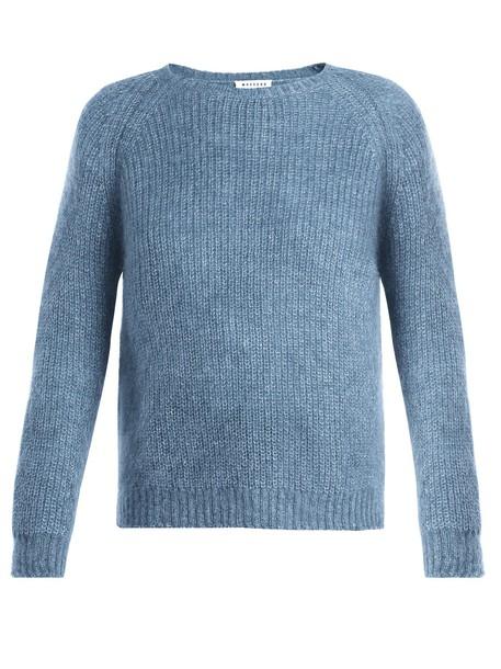 MASSCOB sweater mohair blue