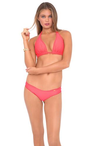top bikini top coral dd halter top luli fama triangle bikiniluxe tights