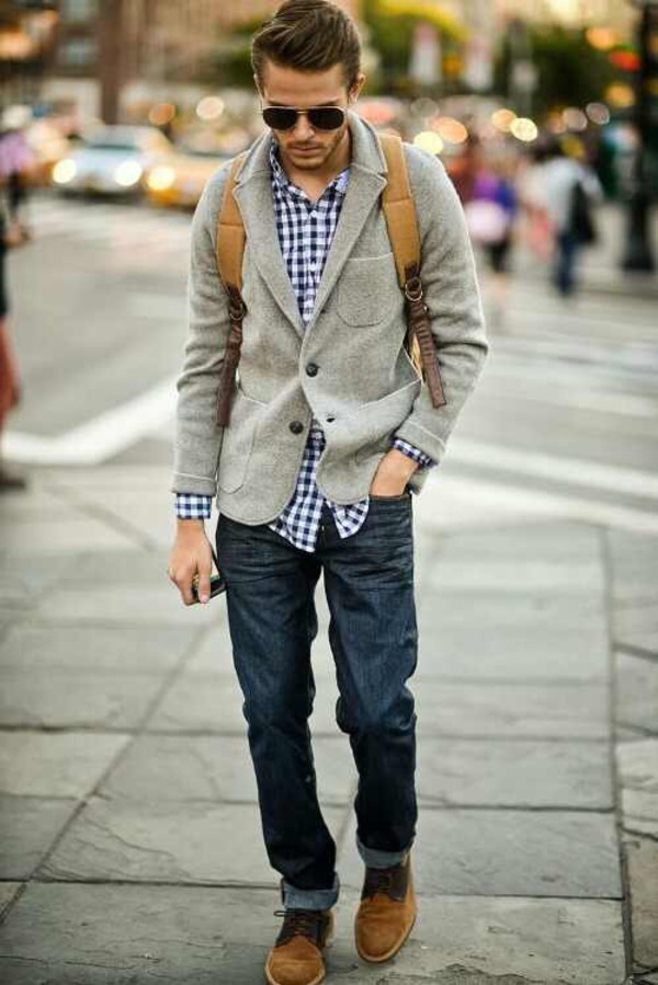 menswear casual grey grey outfit