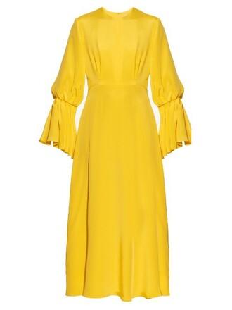 dress satin dress satin yellow