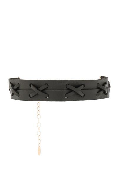 Ettika leather black jewels