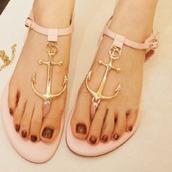 shoes,sandals,anchor
