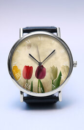 jewels,watchw,watch,handmade,style,fashion,vintage,etsy,spring,gift ideas,fashion trend,trendy,floral,tulips,flowers,lovutimepieces,spring summer 2011