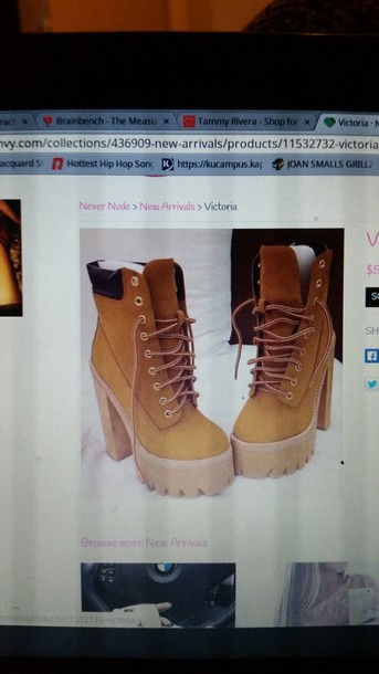 shoes bootie brown cute