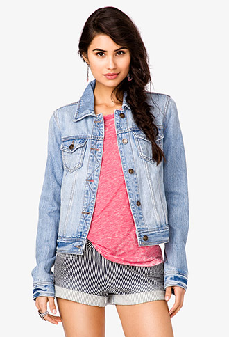 Distressed Denim Jacket | FOREVER21 - 2035997080