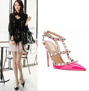 Time limited Big Discount ! 2013 New Fashion Sexy Star's Rivets 11cm High Heels Women Pumps Ladies' Wedding Party Dress Shoes-inPumps from Shoes on Aliexpress.com