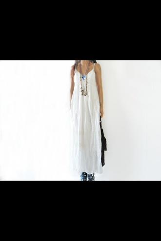 dress white dress hippie gypsy dress hippie boho gypsy boho chic boho dress