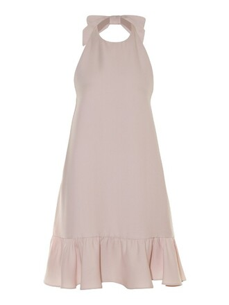 dress bow ruffle light pink light pink