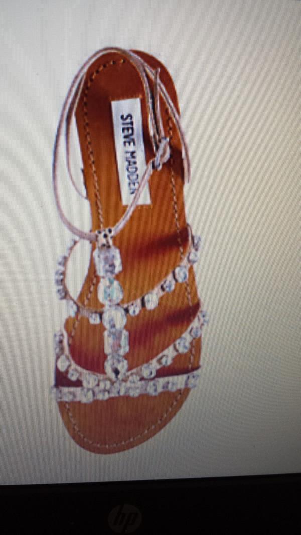 shoes sandals bejeweled sandals rhinestones steve madden