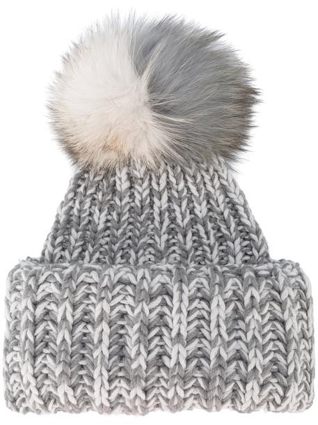 Inverni fur fox women hat grey