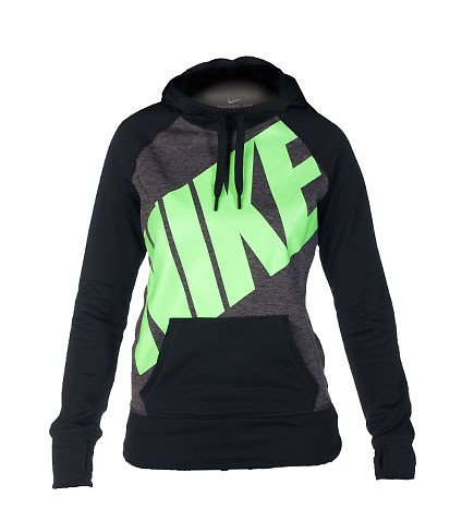 BIG NIKE ALL TIME PO FLEECE HOODIE - Black - NIKE