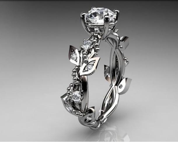 jewels ring rose engagement ring romantic diamond ring Wheretoget