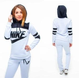jumpsuit nike white nike air nike sweater nike jacket hoodie pants training pants sportswear workout tracksuit sweater jumper jacket