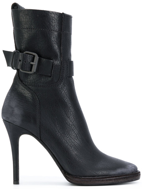 Haider Ackermann heel high heel high women boots ankle boots leather black shoes