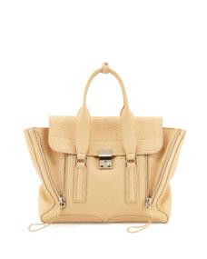 3.1 Phillip Lim Pashli Medium Zip Satchel Bag, Buff