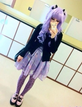 dress coat shoes pants pastel goth emo colorful purple goth hair accessory