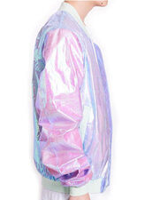 jacket,dejavu cat,holographic,unisex,fall outfits,spring,metallic,sheer,see through,transparent,gammaray,asian fashion,harajuku,36683,urban outfitters,holographic windbreaker