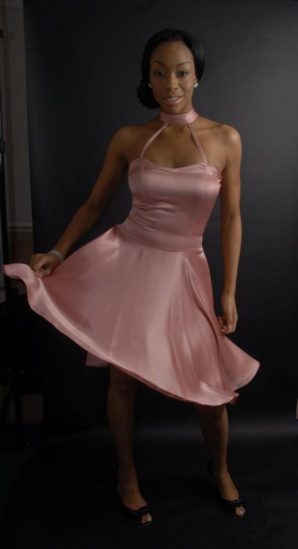dress neck tie dress pink dress pink dress