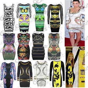 Womens Pencil Party Tunic Rihanna Ladies Celebrity Short Bodycon Top Mini Dress | eBay