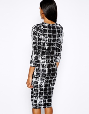 River Island | River Island Check Print Column Dress at ASOS