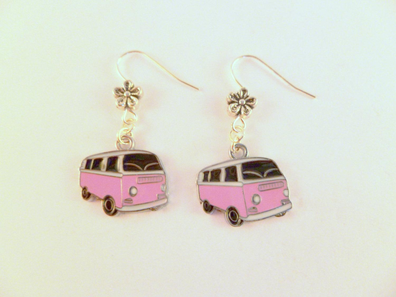 Vw bay camper van earrings