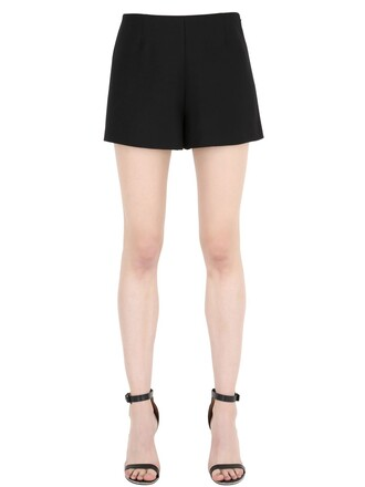 shorts couture silk wool black