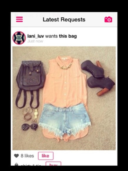 sunglasses shoes bag blouse jewels