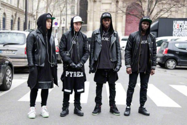 Jacket pyrex pyrex clothes clothes tumblr clothes menswear black white perfecto shoes ...