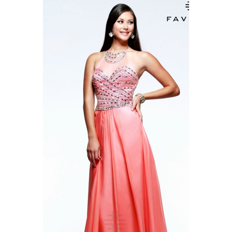 Beaded Sheer Gown by Faviana S7505 - Bonny Evening Dresses Online
