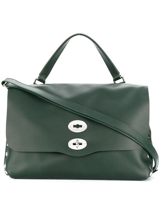 women bag tote bag leather green
