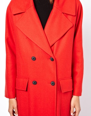ASOS | ASOS Limited Edition Poppy Red Longline Coat at ASOS