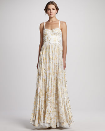 nice cheap classic style 100% authenticated Alice Olivia Yarra Bustier Maxi Dress - Neiman Marcus