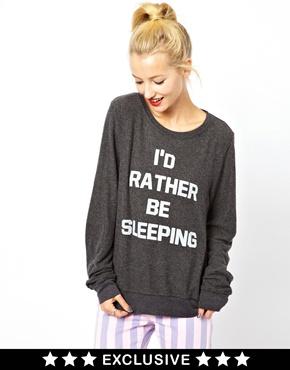 Wildfox | Wildfox I'd Rather Be Sleeping Sweatshirt Exclusive To ASOS at ASOS