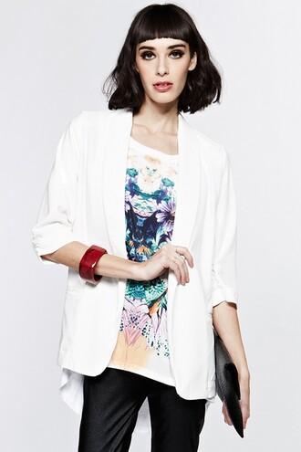 jacket white jacket white blazer blazer oversized blazer oversized white blazer