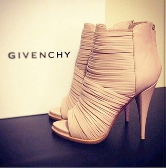 shoes strappy heels givenchy sandal heels nude high heels nude sandals