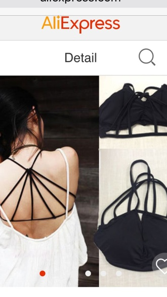 top black crop tops bikini top strappy