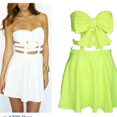 Bow cute dress White · Outletpad · Online Store Powered by Storenvy