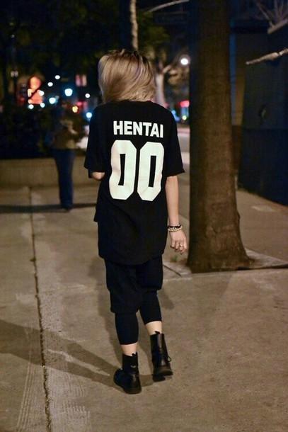 Shirt: jersey, grunge, street goth, streetwear ...