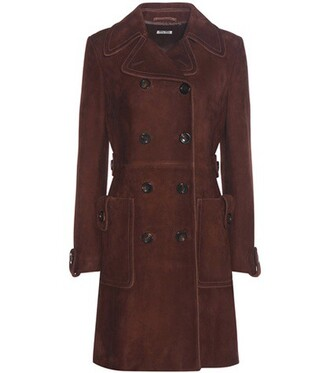 coat suede brown