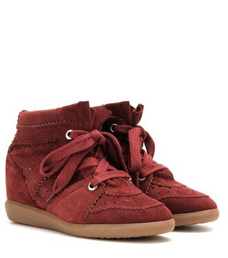 suede sneakers sneakers suede red shoes