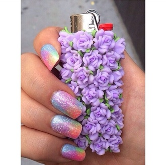 jewels lighter beaut floral flowers purple flowers beautiful accessory purple